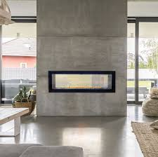 boulevard see through linear fireplace