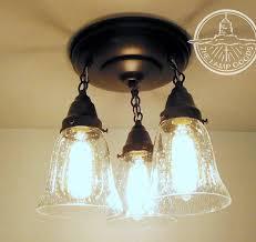 kellie ii glass ceiling lights trio of