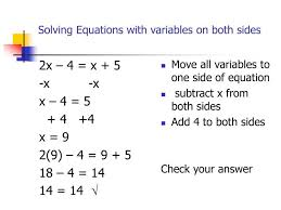 ppt solving equations with variables