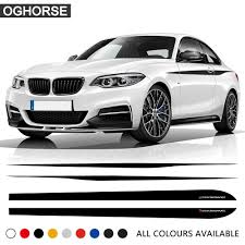 Car Styling Door Side Stripe Skirt Sticker Waist Line Body Kit Decal M Performance For Bmw 2 Series F22 F23 Coupe Accessories Car Stickers Aliexpress