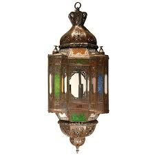 moorish hanging glass light fixtures