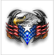 Bald Eagle And American Flag Sticker Decal Free Shipping Vinyl Junkie Graphics