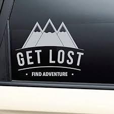 Amazon Com Nashville Decals Get Lost Find Adventure Vinyl Decal Laptop Car Truck Bumper Window Sticker Gray Automotive
