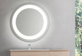 round led lighted bathroom makeup
