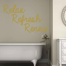 Bath Quote Relax Refresh Renew Removable Bathroom Vinyl Wall Decor Decal Customvinyldecor Com