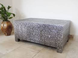 patterned metal coffee table