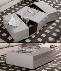 sleek modern coffee table with