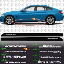 Bmw M Power M Performance Born In M Town M Motorsport Side Rocker Panel Vinyl Decals Stickers F32 F36 F30