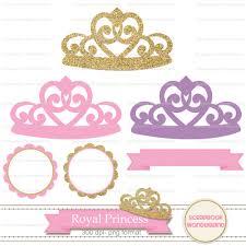 Kit Fondos Princesa Corona Dorado Rosa Papel Cliparts Frames Bs