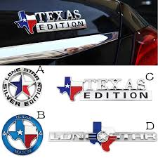 3d Metal Lone Star Texas Edition Emblem Badge Car Body Decoration Sticker For Jeep Grand Cherokee Renegade Patriot Compass Wrangler Liberty Wish