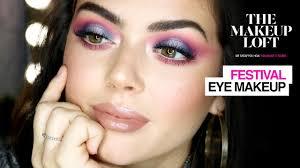 festival makeup holographic cut crease