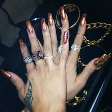 rihanna coffin shaped nails new