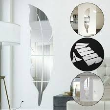 glass mirror tiles wall stickers square