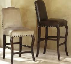 calais leather bar stool pottery barn