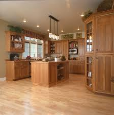 craftsman style kitchen hickory wood