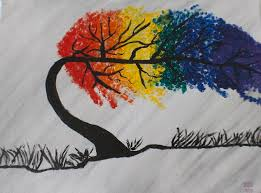 Rainbow Tree Painting by Mildred Smith