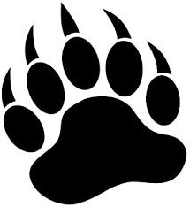Amazon Com Grizzly Bear Paw Print 3 5 Black Vinyl Decal Window Sticker For Laptop Ipad Window Wall Car Truck Motorcycle Automotive