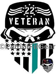 Veteran 22 Flag Suicide Awareness Ptsd Support Our Troops Sticker Vinyl Decals Ebay