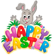 Transparent Happy Easter with Bunny PNG ...