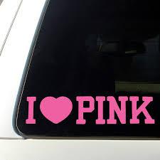 Amazon Com I Love Pink Cute Car Decal Sticker Love Automotive