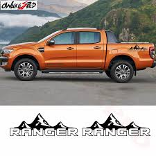 2pcs Mountain Adventure Graphics Pickup Truck Both Side Decor Sticker Car Body Scratch Protect Vinyl Decal For Ford Range Car Stickers Aliexpress
