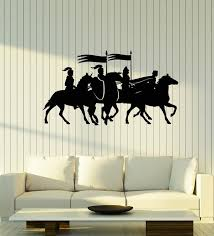 Vinyl Wall Decal Medieval Knight Warriors Riding Horses Stickers Mural Wallstickers4you
