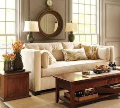 console table behind sofa