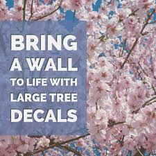 Large Tree Wall Stickers For Nursery Add Color And Interest The Easy Way