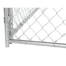 Lucky Dog 6 Ft H X 10 Ft W X 10 Ft L Modular Chain Link Kennel Kit Cl 49150 The Home Depot