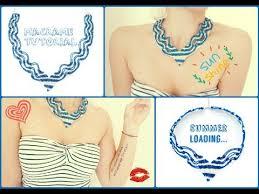 macrame necklace tutorial diy jewelry