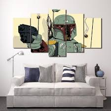 Star Wars Boba Fett 5 Panel Canvas Print Wall Art Gotithere Com
