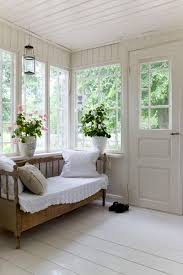 traditional swedish glassed porch with