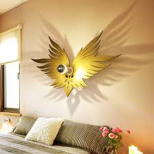 Artistic Gold Wooden Angel Wing Kids Room Shadow Wall Sconce Night Lighting 110v Ebay