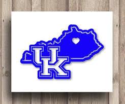 Kentucky Monogram State Heart University Of Ky Uk Vinyl Car Decal Car Decals Vinyl University Of Ky Etsy