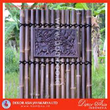 Black Bamboo Panel And Screening With 4 Back Bamboo Slats