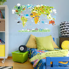 Map Of World Wall Decal Nursery Wall Art Wall Decals Removable Wallpaper Wall Murals Just For You Decals