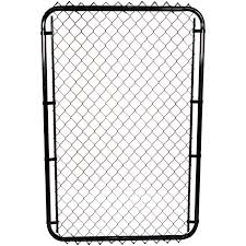 Master Halco 58 Hx24 To 72 W Adjustable 11 Gauge Black Chain Link Gate With 1 5 Squares Home Hardware