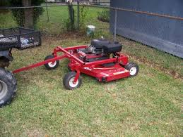pull behind finishing mower attachment