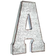 a large galvanized metal letter hobby