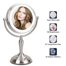 led lighted makeup mirror 10x