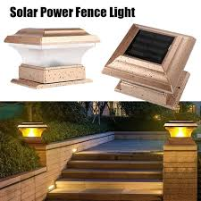 1pc Waterproof Outdoor Solar Power Garden Landscape Light Fence Post Light Yard Pillar Lamp Shopee Philippines