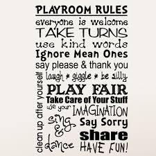 Playroom Rules Wall Decal Wayfair