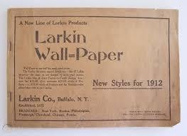 1912 larkin wall paper sle book