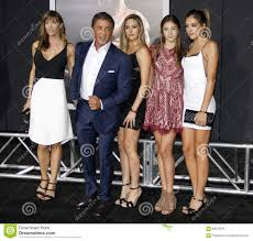 Sistine Rose Stallone, Jennifer Flavin, Sylvester Stallone, Sophia Rose  Stallone And Scarlet Rose Stallone Editorial Photo - Image of star,  success: 62579976