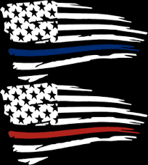 Distressed American Flag Thin Blue Or Red Line Vinyl Window Decal Sticker Ebay