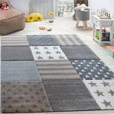 Kids Star Rug Grey Beige Nursery Carpet Pastel Mat Childrens Bedroom Play Mat Ebay