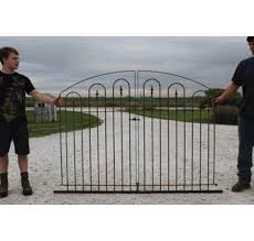 4ft Tall By 6ft Wide Entry Gate Wrought Iron Center Divide