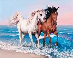 Beibehang مخصص صور خلفيات Papel دي Parede 3d زوجين الحصان اللوحة