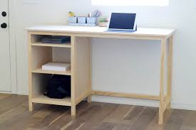 diy counter height desk with storage