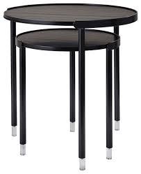 blaine black nesting tables set of 2